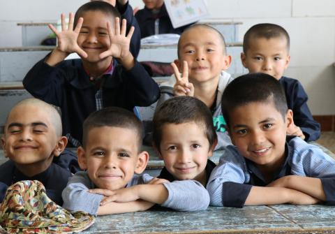 Afghan students in school