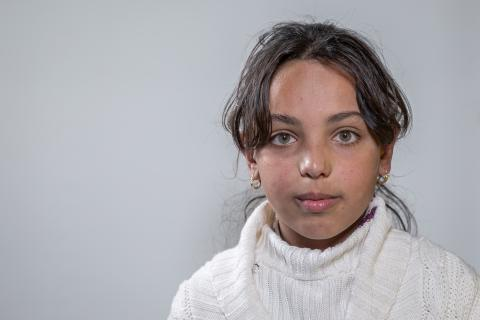 Noor, 10 years old, from Sinjar, now living in Harsham Camp, Iraq