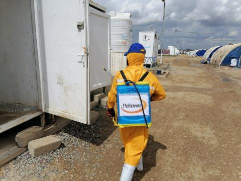 UNICEF and Ministry of Health in Iraq supported sterilisation campaigns in  Jadaa, Salamiya and Al Karama camps for vulnerable displaced populations
