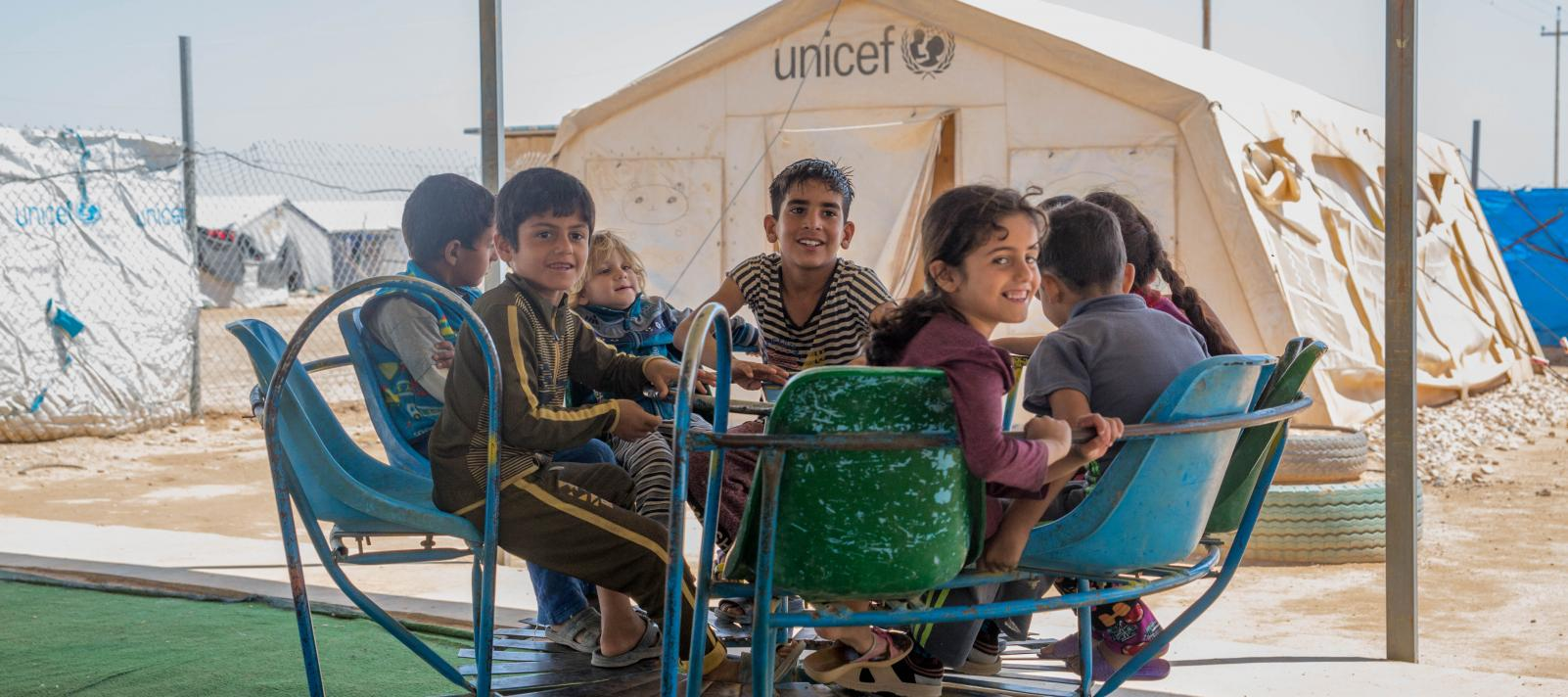 Children at a Child Friendly Space in Ramadi