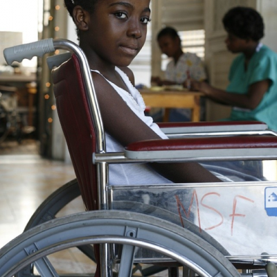 Photograph of a girl in wheelchair