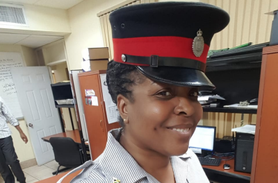 Photograph of Jamaica Constabulary Force (JCF) Sergeant Janet Williams-Richards at work at Grants Pen Police Station in St Andrew.