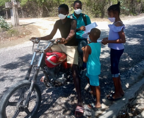Principal Keron King began using bike taxis to make sure COVID-19 would not stop students at Little Bay Primary School in Westmoreland from learning.
