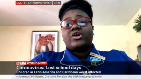 Ree-Anna Robinson National Secondary Students' Council (NSSC) BBC World News UNICEF Jamaica