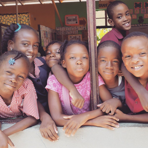 Photograph of students at Lethe Primary School