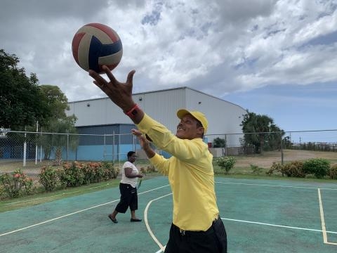 Photograph of Allan Levy, Special Olympics Jamaica volleyball coach