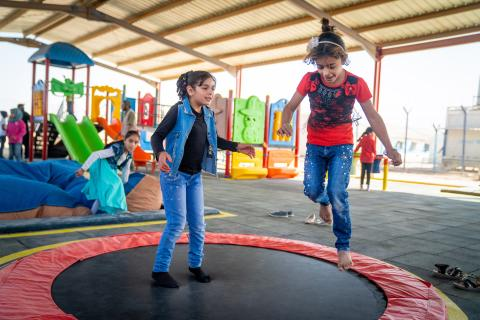 UNICEF opens first inclusive playground in Za'atari refugee camp