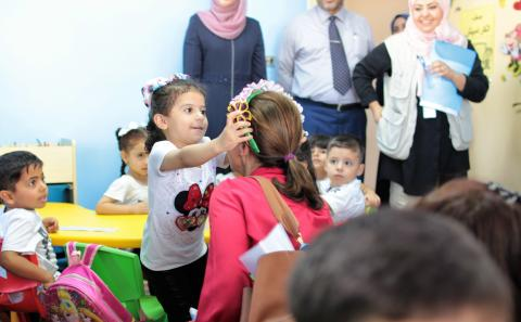 Rep Inaugurating New Kindergartens Opening