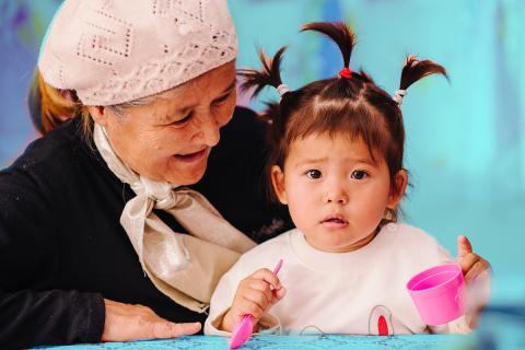 Little girl with grandmother