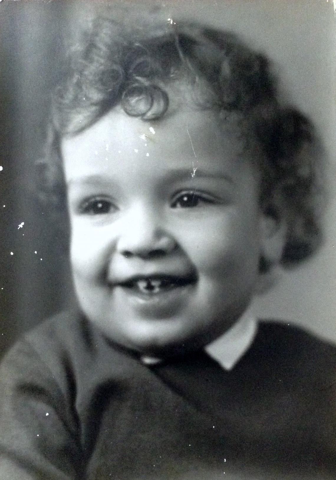 Arthur as a young child