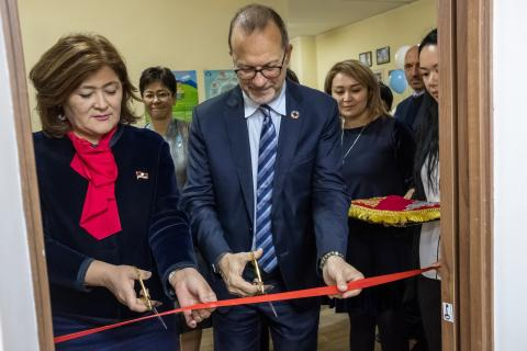 Opening the Family Resource centre on positive parenting in Bishkek