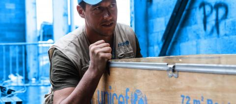 UNICEF delivers supplies