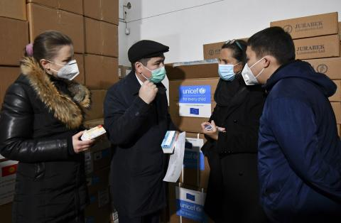 The Ministry of Health received today medicines procured by UNICEF with European Union funding