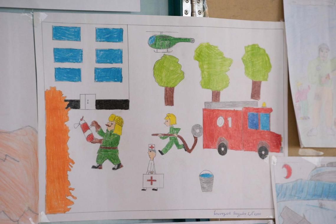 Writing High School Essays When A Drawing Contest Was Announced For The International Drr Day The  Schoolchildren Themselves Decided How To Use A Thesis Statement In An Essay also Essay On Terrorism In English In Earthquakeprone Kyrgyzstan An Exercise To Keep Children Safe  English Essay Writing Help