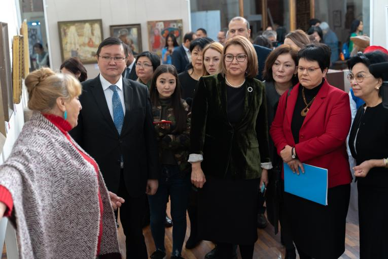 The first Children in Art exhibition opened in Kyrgyzstan
