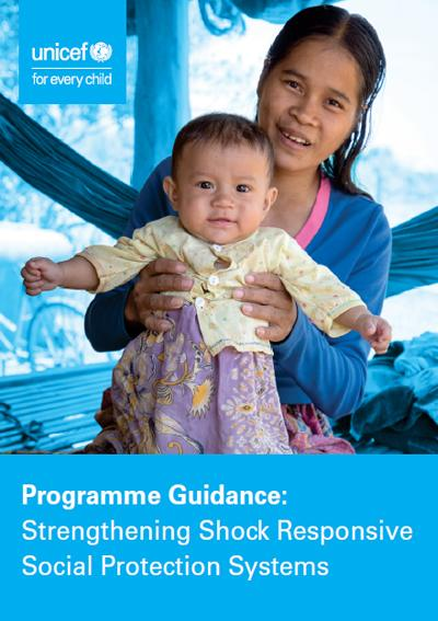 Cover Programme guidance strengthening shock responsive social protection systems