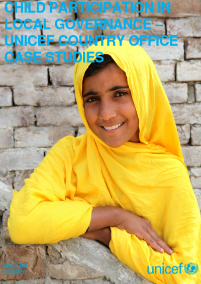 PDF Child participation in Local Governance - UNICEF Country Office Case Studies