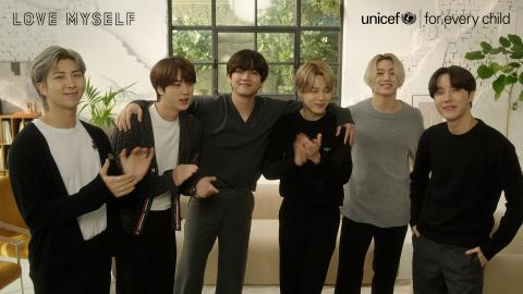 "Video stills: BTS and Big Hit renew commitment to ""LOVE MYSELF"" campaign to support UNICEF in ending violence and neglect as well as promoting self-esteem and well-being"