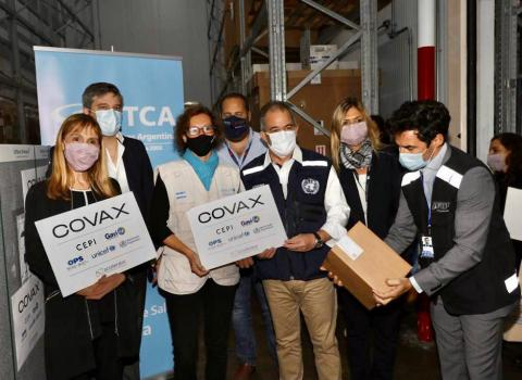 United Nations Representatives receive COVId-19 vaccines in Argentina.
