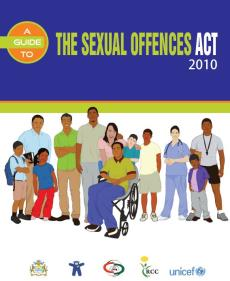 Portada Sexual Offences Act