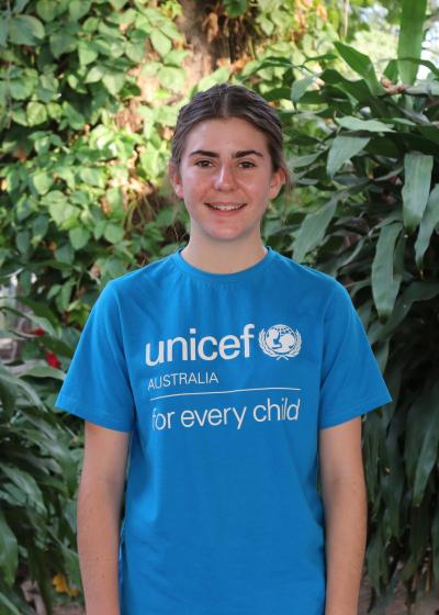 17-year-old Indiana from Gympie, Queensland, Young Ambassadors for UNICEF Australia.