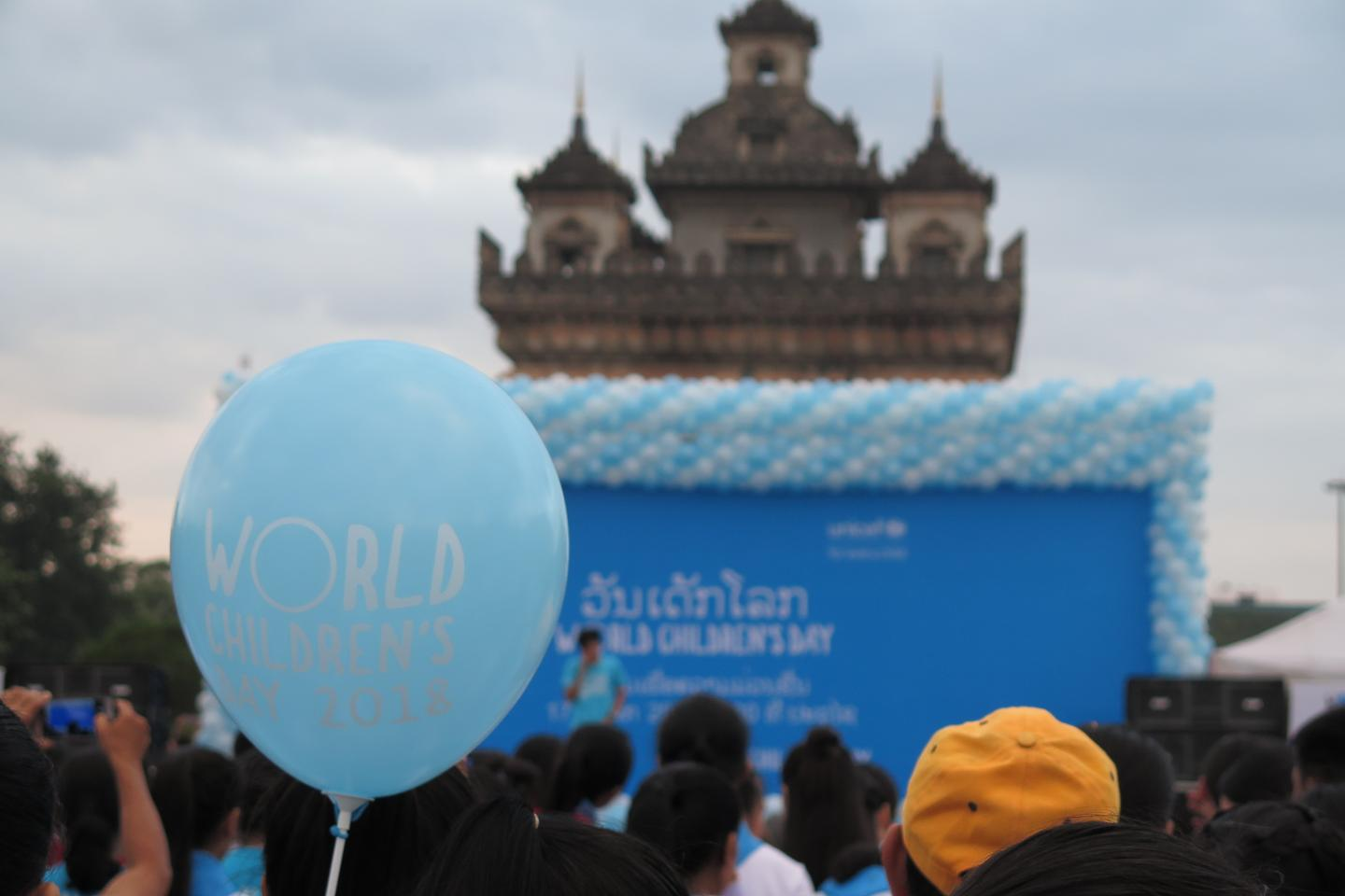 World Children's Day in Laos: a successful first time