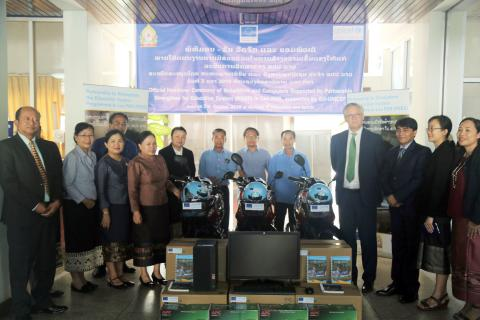 European Union (EU) and UNICEF handed over to the Ministry of Education and Sports (MoES) equipment