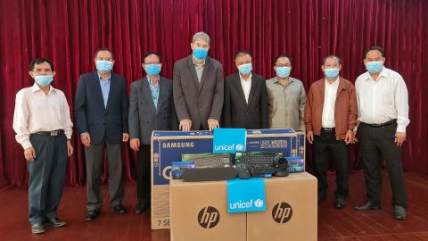 UNICEF Lao PDR handed over equipment to key the Ministry of Information, Culture and Tourism (MICT)