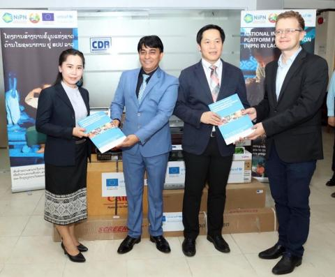 The EU and UNICEF Provide Equipment to MPI for Data Management and Prevention of Under Nutrition