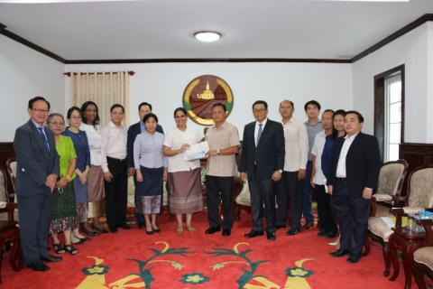 Courtesy visit to the Governor of Savannakhet Province
