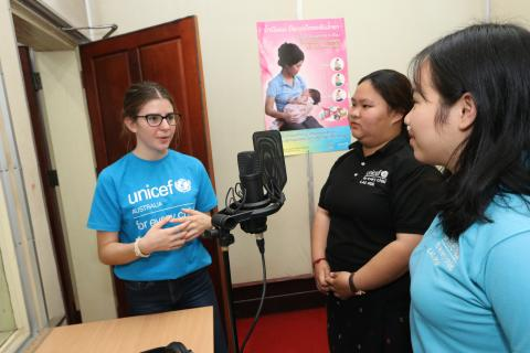 Indiana, 17-year-old Young Ambassadors for UNICEF Australia