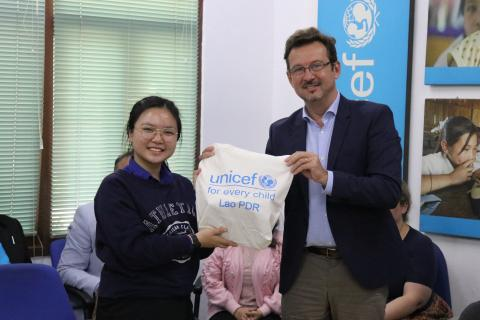 Nickar is a Lao youth representative and recently made a visit to UNICEF Laos to share her experiences and ideas after her dream come true in New York.