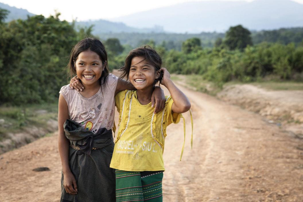 Yard and Wai are 11 years old. They are closed friends at PaXia village, Saravan province, Lao PDR