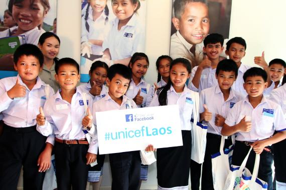 Children visit UNICEF station on UN House Open day 2017