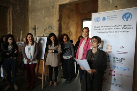 New exhibition on sexual and gender-based violence sends clear message from girls in Lebanon