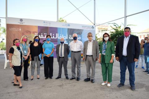 During the launch of the measles campaign