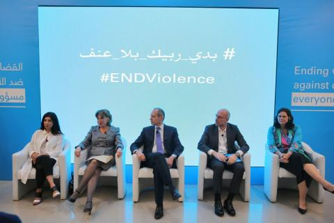 Right to left Violet Warnery,Abdallah Ahmad,Fady Yarak,Mayssam Noueiri, Pamela Zgheib