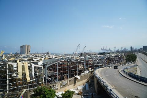 Port Beirut After the explosions