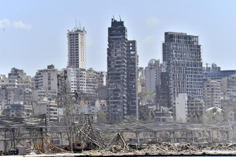 Houses and building in Beirut after the port explosion