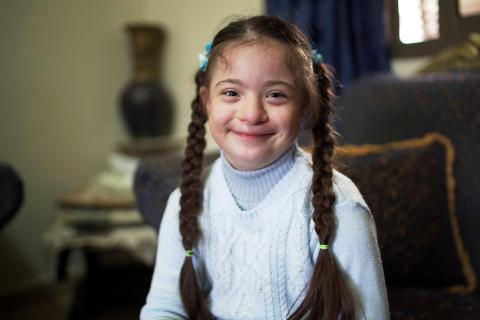 10-year-old Dania Al Fares Smiling
