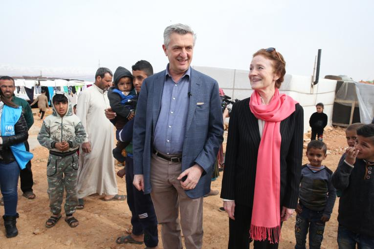UNHCR and UNICEF chiefs, on joint visit to Lebanon, call for more action to protect and empower Syrian refugee women and girls as world marks International Women's Day