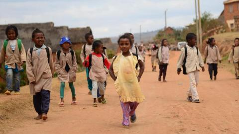 children are on the way to school