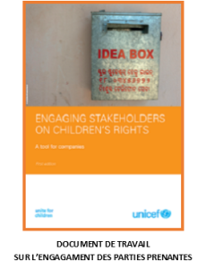 Engaging stakeholders on children's rights