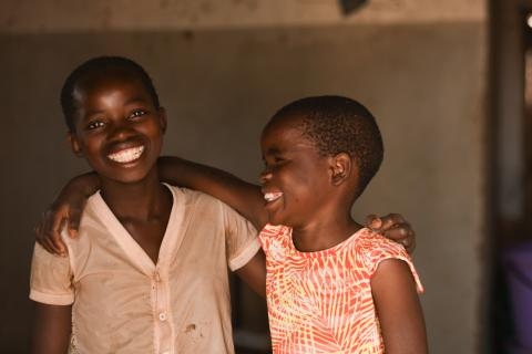 children at their home in balaka