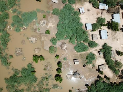 Drone imagery of flood affected areas in Nsanje district