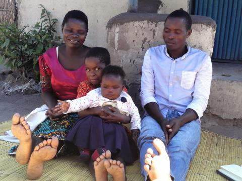 Salome Phiri with her family