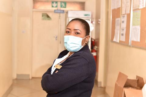 Nyembezi Gausi a Nurse captured at Bwaila District Hospital Lilongwe