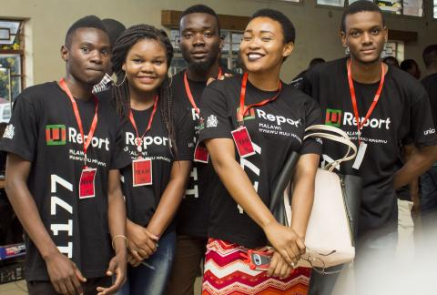 Young people at the U-Report launch in Lilongwe