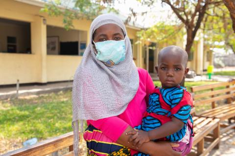 A mother seeking for essential health service at Mangochi District Hospital
