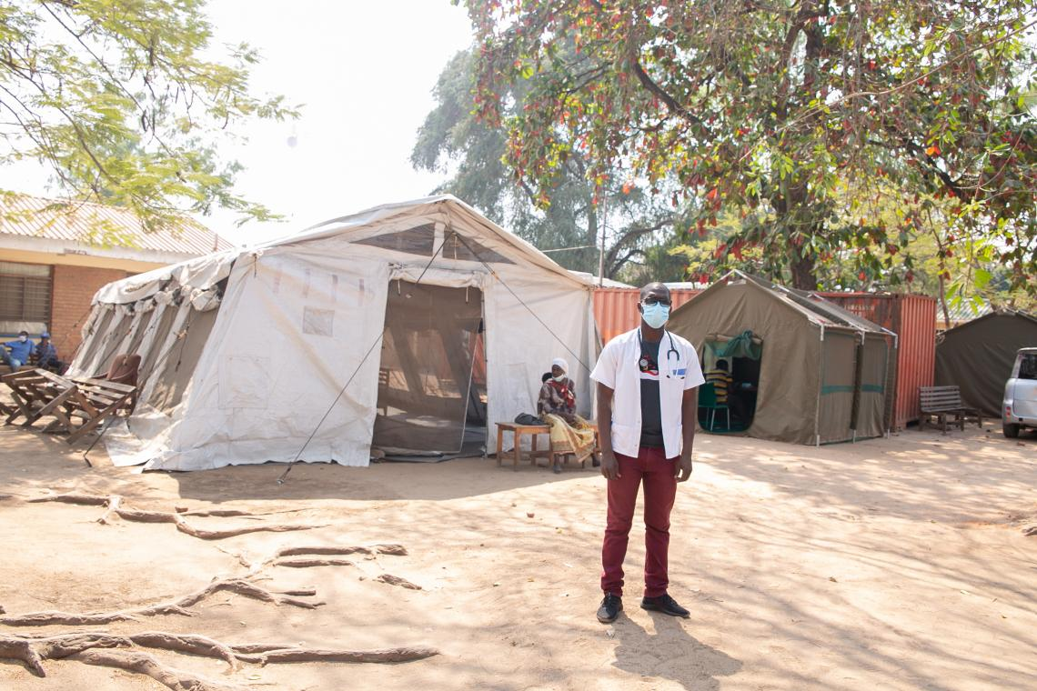 Clinical Officer, Clement Masoambeta. He deals with patients seeking essential health services everyday